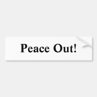 ¡Paz hacia fuera! Pegatina Para Auto