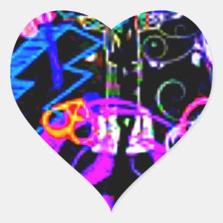 Paz hacia fuera Susie Pegatina En Forma De Corazón