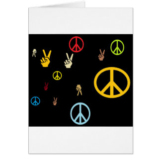 Paz hacia fuera felicitaciones