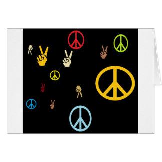 Paz hacia fuera tarjetas