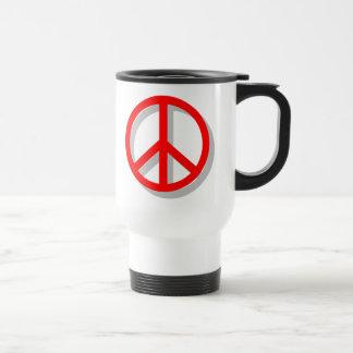 Paz hacia fuera taza de café