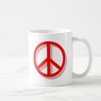 Paz hacia fuera tazas
