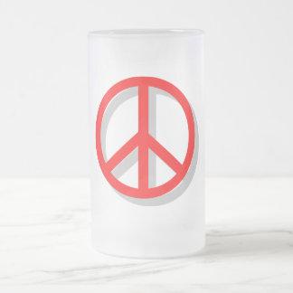 Paz hacia fuera tazas de café