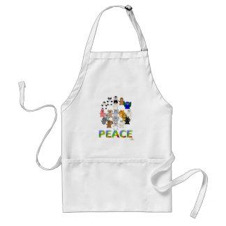 Paz Huggable del signo de la paz de los animales Delantal