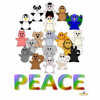 Paz Huggable del signo de la paz de los animales Escultura Fotográfica