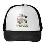 Paz Huggable del signo de la paz de los animales Gorras De Camionero