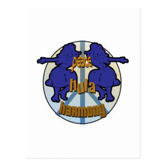 Paz, Hula, logotipo de la armonía Tarjetas Postales