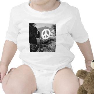 paz impresionante de la pintada trajes de bebé