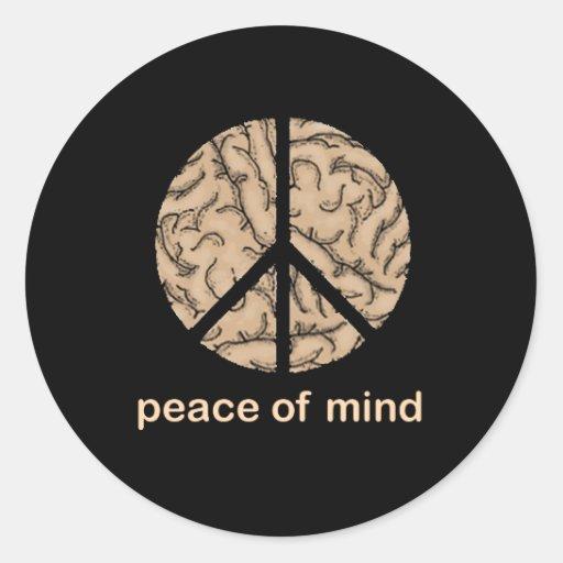 Paz interior pegatinas redondas