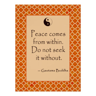 Paz interna de la cita de Buda… en los posters