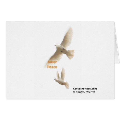 Paz interna tarjeta de felicitación