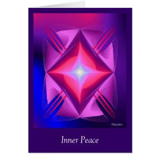 Paz interna tarjeta pequeña