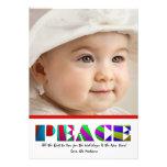 Paz intrépida - tarjeta del día de fiesta de la fo
