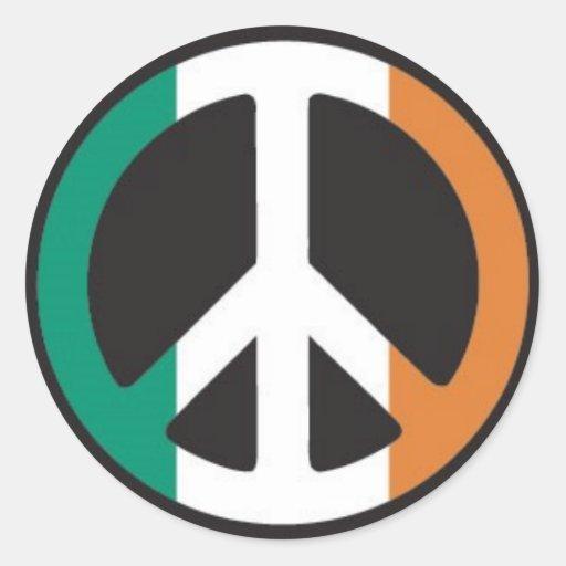 Paz irlandesa pegatinas redondas