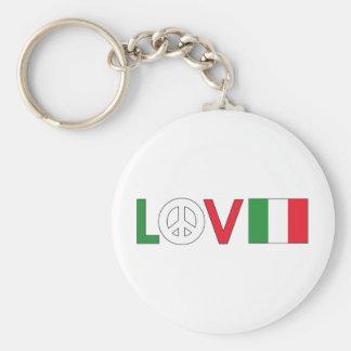 Paz Italia del amor Llaveros
