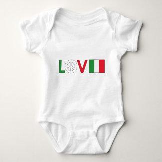Paz Italia del amor Playera