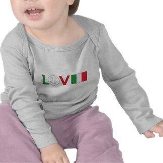 Paz Italia del amor Camisetas