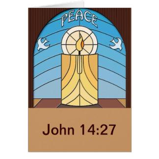 Paz - Juan 14 v27 Tarjeta De Felicitación