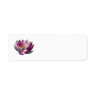 Paz l flor de Lotus/lirio de agua rosados hermosos Etiqueta De Remite