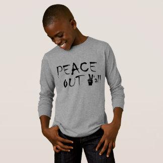 Paz larga básica de la camiseta de la manga de los
