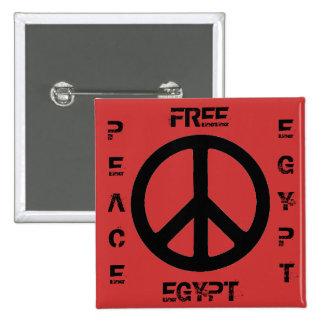 PAZ LIBRE EGIPTO DE EGIPTO PIN CUADRADO