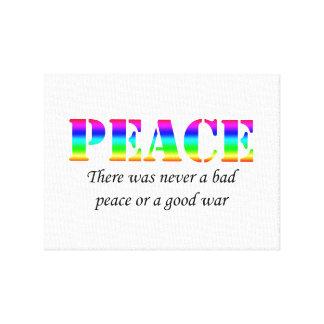 Paz Impresión En Lona