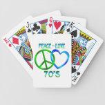 Paz - los años 70 del amor baraja cartas de poker