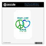 Paz - los años 70 del amor iPod touch 4G calcomanías