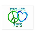 Paz - los años 70 del amor tarjeta postal