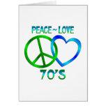 Paz - los años 70 del amor tarjetas