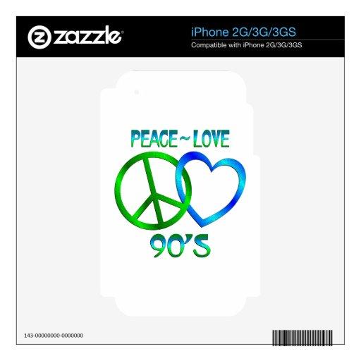 Paz - los años 90 del amor iPhone 3GS skins