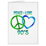 Paz - los años 90 del amor tarjetón