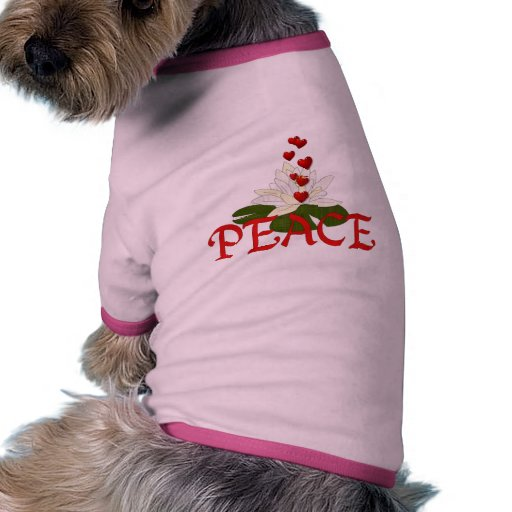 Paz Lotus Camiseta Con Mangas Para Perro