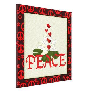Paz Lotus Impresion De Lienzo