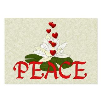 Paz Lotus Plantilla De Tarjeta De Negocio