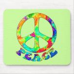 Paz Mousepad de la piscina del arco iris Tapete De Raton