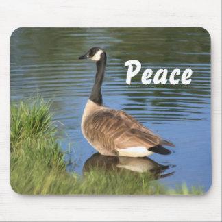 Paz Mousepad inspirado del ganso de Canadá