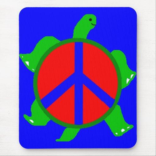 Paz Mousepsd de la tortuga Tapete De Ratón