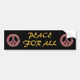 paz multi para toda la pegatina para el parachoque etiqueta de parachoque