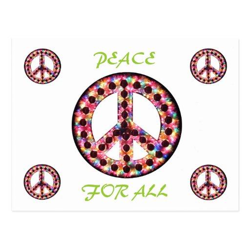 paz multi para toda la postal