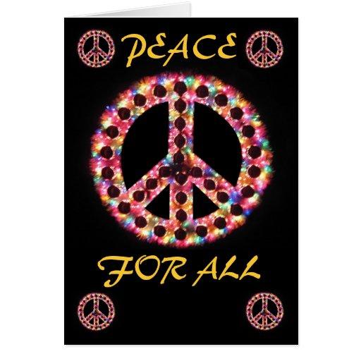 paz multi para toda la tarjeta de felicitación