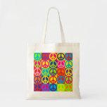 Paz multicolora bolsa de mano