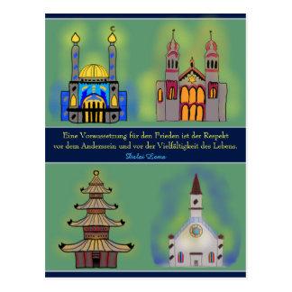 Paz mundial tarjeta postal