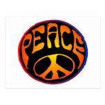 Paz - naranja rojo postal