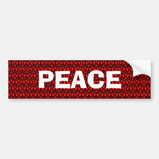 Paz negra y roja pegatina de parachoque