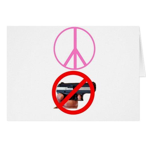 paz ningunos armas tarjetón