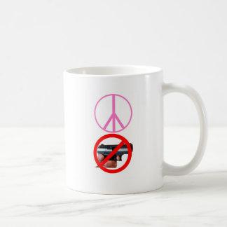 paz ningunos armas taza