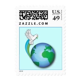 Paz No-Confesional en la tierra con la paloma Sellos