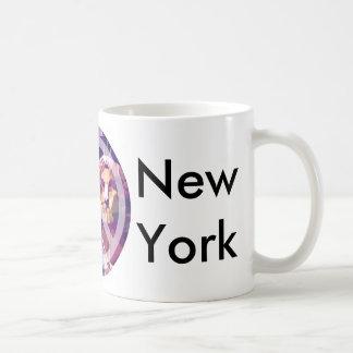 Paz Nueva York Taza Básica Blanca