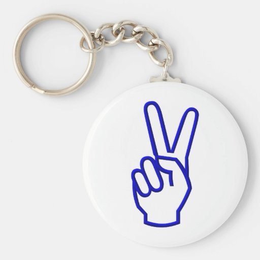 Paz o V para la victoria Llavero Personalizado